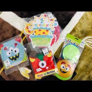 Mini Monster 1st Birthday accessories NEW